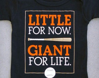 Little Giant (San Francisco Giants) - SF-inspired Baseball Baby Graphic Onepiece & T-shirt // SF Giants // MLB // New Baby // Cute Boy Gift
