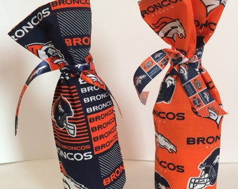 Denver Broncos wine or bottle bag