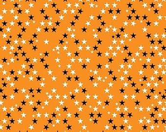 Halloween Magic Orange Star Bella Blvd for Riley Blake Designs