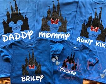 Disney Shirts | Disney World Family Shirts | Matching Disney Family Shirts | Castle Shirts | Disney World | Disneyland | Mickey Mouse | M