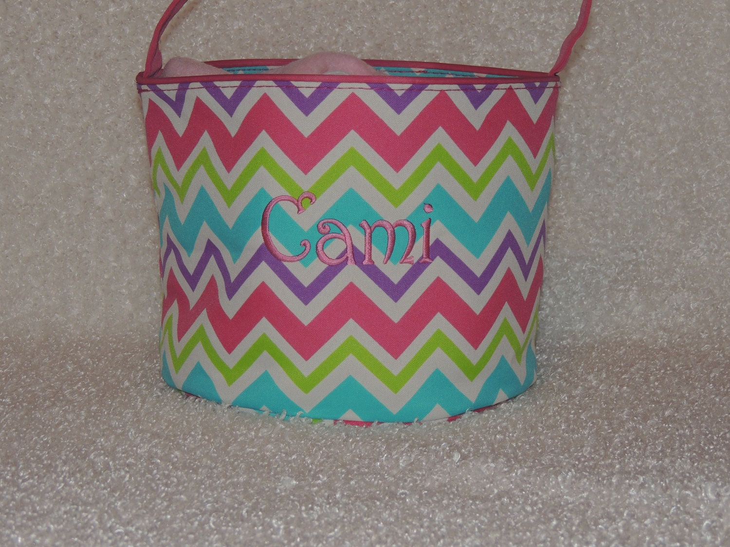 Monogrammed Easter Basket Personalized Easter Basket
