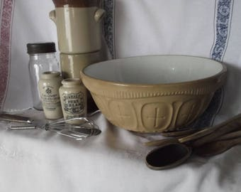 Very Rare 1921 Huge Stoneware Mixing Bowl , Vintage Mixing Bowl , Albion Granitic Stoneware Mixing Bowl ,