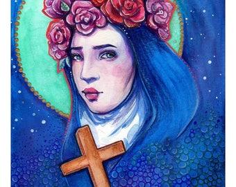 Saint Rose of Lima Art Print