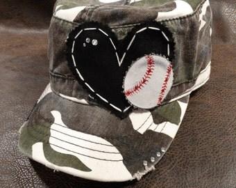 Baseball LOVE Camo Cadet Hat