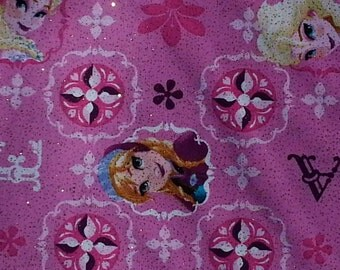 Disney, Frozen, Elsa and Anna, Disney fabric, fabric by the yard, pink fabric