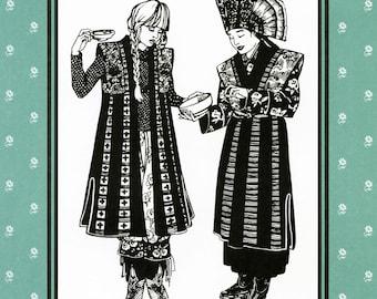 Folkwear Japanese Hakama & Kataginu Samurai Costume Sewing