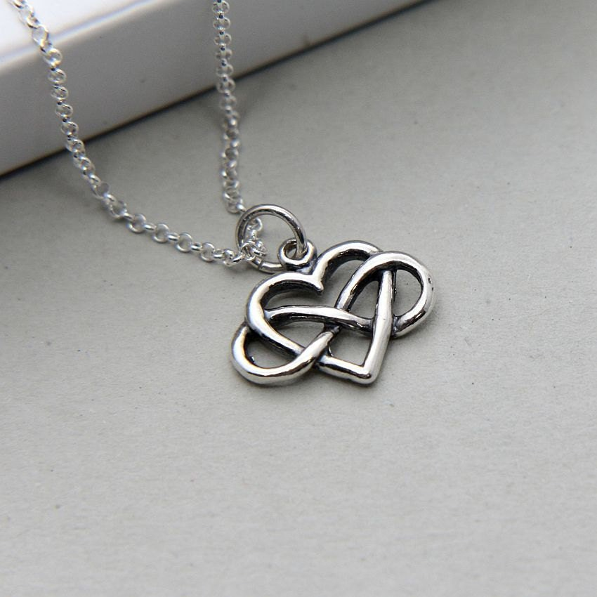 infinity necklace heart infinity necklace sterling by. Black Bedroom Furniture Sets. Home Design Ideas