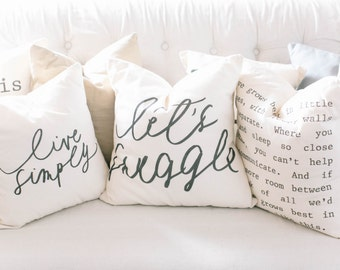 Throw Pillow Cover SET - 18x18s You Choose How Many, present, throw cushion, housewarming gift