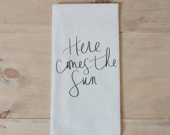 Tea Towel - Here Comes The Sun
