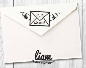 Liam - air mail rubber stamp - FREE SHIPPING WORLDWIDE*