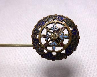 Vintage Brass Filigree Hat Pin