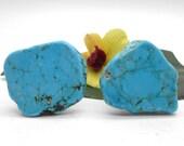 Knobs, Stone Knobs, Cabinet Knobs, Turquoise -Set of 2, Stone Cabinet Knobs, Kitchen Knobs and Pulls, Southwest, Stone Knobs
