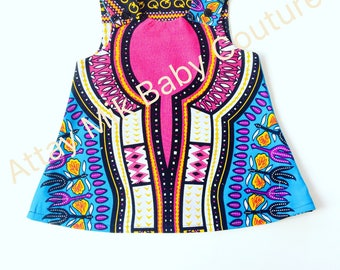 African Clothing. Baby Dashiki. Dashiki outfit. Baby Dashiki summer dress. Different colors available ( see options)