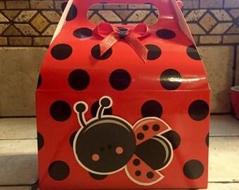 Ladybug Birthday favor box