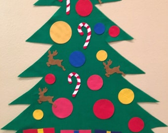 FREE SHIPPING Felt Christmas Tree- Children's play tree