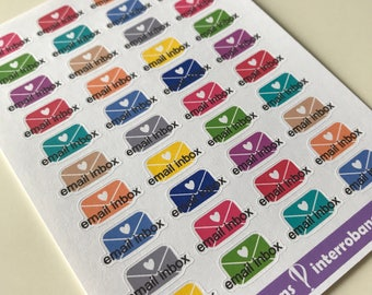 A54 - Email Inbox - Planner Stickers
