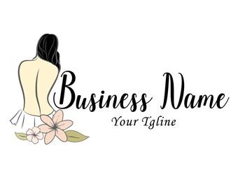 DIGITAL Custom Logo design, Spa beauty massage Logo, spa Logo, spa lady logo,  Relaxing logo, pink logo, Beauty massage logo, business logo