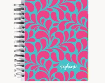Daily Sidekick Planner – Personalized  | Monthly Calendar | To Do List | Hourly | Organizer | Agenda | Bound | Swirl
