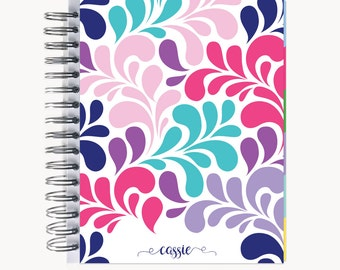 Daily Sidekick Planner – Personalized  | Monthly Calendar | To Do List | Hourly | Organizer | Agenda | Bound | Swirl Multi