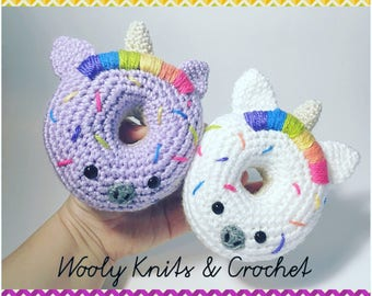 MADE to ORDER, Crochet Unicorn Donut toy, donut toy, baby, toddler, play food