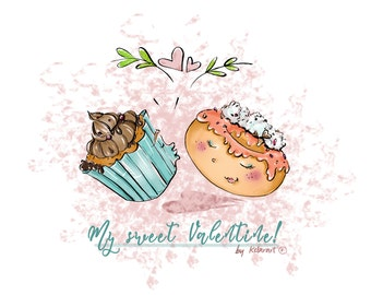 My Sweet Valentine - printable Valentine's card