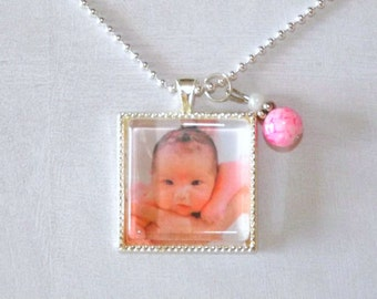 Personalized Photo Necklace- Gifts for Her- Photo Jewelry