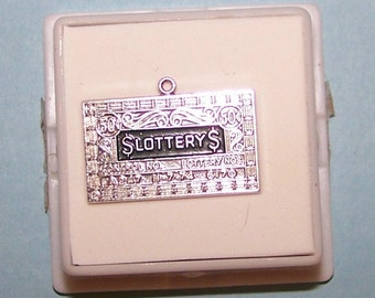 Vintage Sterling Lottery Ticket Charm--Lucky 50 Cent TICKET --11-7-74--Griffith