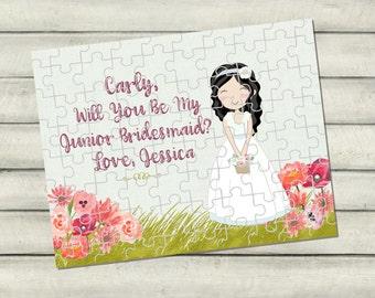 Flower Girl Gift, Personalized Flower Girl Gift, Flower Girl Puzzle, Flower Girl, Junior Bridesmaid Gift, Wedding Gift, Wedding, RyElle,