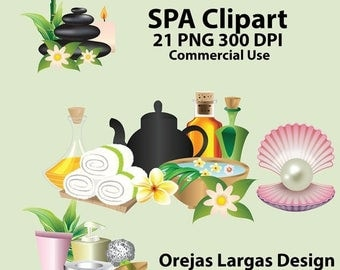 Spa party clipart | Etsy
