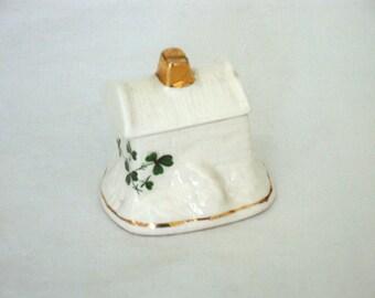 Vintage Carrigaline Pottery Mini Trinket Box - Ireland
