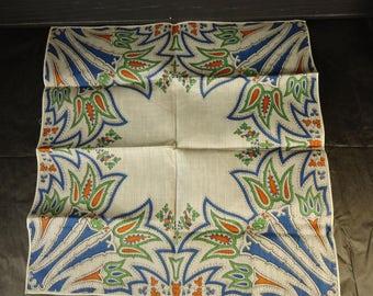 vintage scarf tulip graphic Norwegian feel