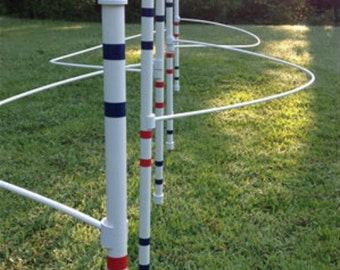 Dog Agility Equipment-Weave poles with guide wires and pole spacer| FURNITURE GRADE pipe!!!