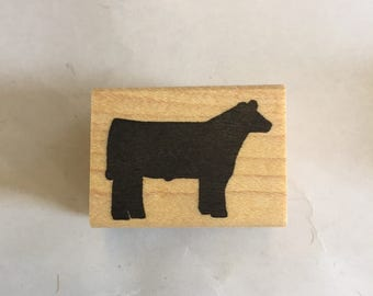 Steer scrapbook stamp