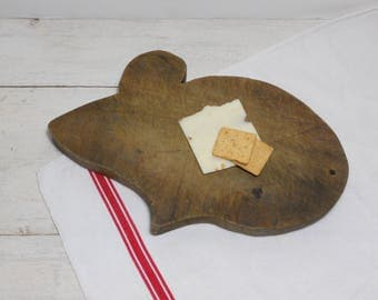 Vintage Wooden Mouse Cutting Board - Cheese Board - Bread Board