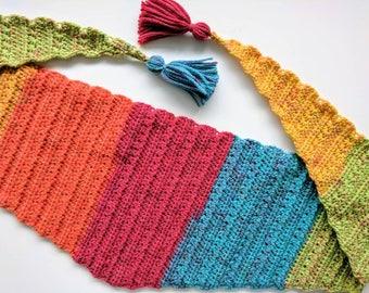 Festival Rainbow Kerchief Scarf