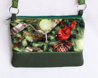 Christmas cross body cell phone purse