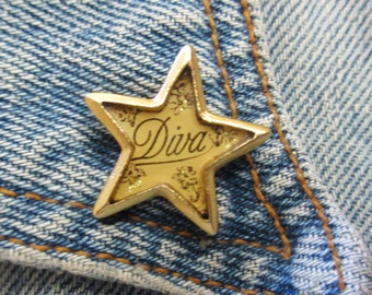 "John Wind MAXIMAL ART Small Star ""Diva"" Pin"