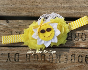 Yellow Sunshine Lace Headband