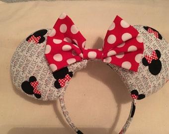 Minnie Mouse Text Minnie Ears