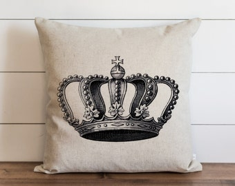 Crown 20 x 20 Pillow Cover // Everyday // Throw Pillow // Gift // Accent Pillow // Cushion Cover