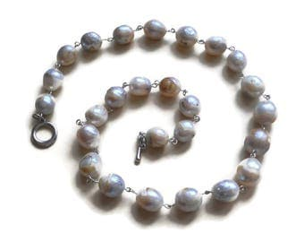 Pearls Jewelry necklaces Giant Raw pearl Necklace