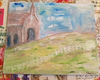 Church in the Field Painting