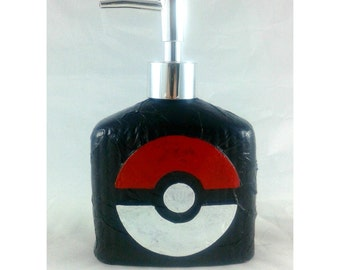 Pokemon Pokeball Dispenser, mixed media soap pump