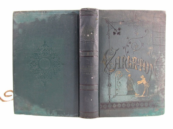 Collier's Unabridged Edition The Works of William Carleton Volume I Illustrated, circa late 1800's  Antique Book