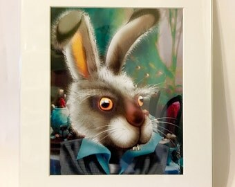 "March Hare (Alice in Wonderland) 11x14"" Art Print by deShan"