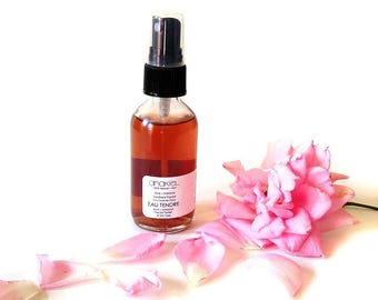 Floral Facial Toner EAU TENDRE. Rose Floral Water. Hibiscus flower. All skin type. Travel size. Facial Mist. Body Mist. Pillow Mist