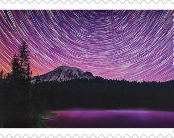 10 Unused Mt Rainier Forever Postage Stamps // Mount Rainier National Park // Washington State Mountain //Seattle Stamps for Mailing