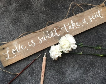 Rustic Wedding Sign, wedding reception sign, rustic wood sign,