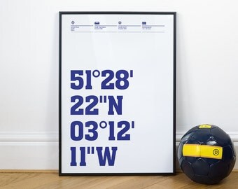 Cardiff City Football Stadium Coordinates Posters
