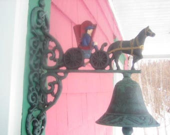 Solid cast iron hanging doorbell